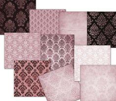 Rosado rojo Damasco Wallpaper Digital papeles por MemoriesPictures