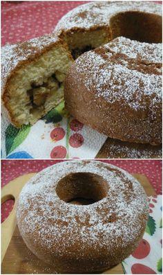 Ciambella di ricotta con mele e cioccolato ! #ricetta #ciambella #ricotta #mele #cioccolato