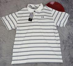Under Armour Coldblack Mens Golf Polo Size 2XL Loose UPF 30 Protection HeatGear #Underarmour #Polo