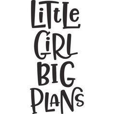 Silhouette Design Store: little girl big plans