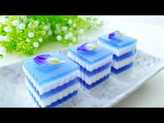 Kue Blue Ocean Jelly (Ocean Blue Jelly Cake Recipe) #littleduckkitchen - YouTube Jelly Desserts, Pudding Desserts, Cake In A Can, Just Cakes, Jello Recipes, Cake Recipes, Pepsi Cake, Fruit Jelly Recipe, Pandan Layer Cake