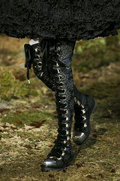 botas cute goticas