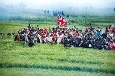 Embestida de los Dragones franceses sobre la infantería británica- Waterloo 2015