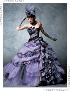 sd 0282 purple if i could afford to have a nightmare before christmas gothic christmas wedding dressesgothic