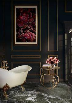 Gorgeous bath décor by Koket