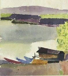 Paul Klee, Small harbor. 1914