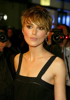 This haircut is looking good, too. Of course it would be hard for Keira Knightly to look bad.