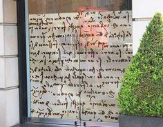 Fensterfolie - Sichtschutz Fenster Da Vinci Manuskript - Fensterbilder