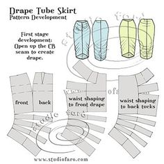 Two seams and some elastic is all it takes! #CutTheTrends #PatternPuzzle - Drape Tube Skirt