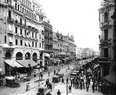 Avenida Central. Rio de Janeiro, 1910. Foto de Marc Ferrez.