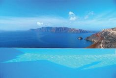 Vanishing-edge Pool, Katikies Hotel, Santorini (one of most romantic hotels in the world, we're told)