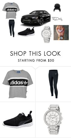"""""""Untitled #172"""" by danikabaeee ❤ liked on Polyvore featuring adidas Originals, NIKE, Puma and Michael Kors"""