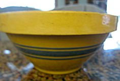 Antique Hull Pottery yellow ware bowl  for sale at More Than McCoy on TIAS!