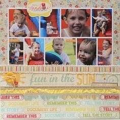 Layout (including a good tutorial) by Nichol Magouirk. Using stamps designed by Ali Edwards.