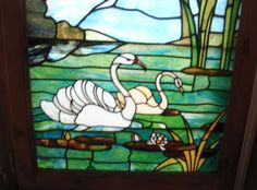Super swan stained glass window