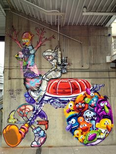 One of three of artist David Choe's murals in the Terminal Kings project in Denver, CO.