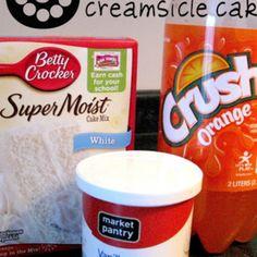 3 Ingredient Orange Creamsicle Cake Recipe | Just A Pinch Recipes