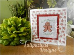 NEW!! gingerbread man christmas card!! so adorable! how can you resist him?? only £1.50 (plus P&P) , check out my other designs available over at my facebook page tulipacious designs.