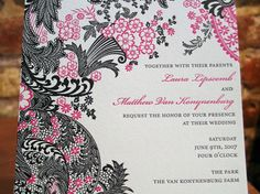 letterpress wedding cards