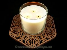 SLD509 - Duke Damask Candle Tray