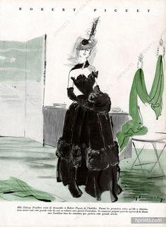 Robert Piguet 1947 Evening Gown, Demachy, Edwige Feuillère