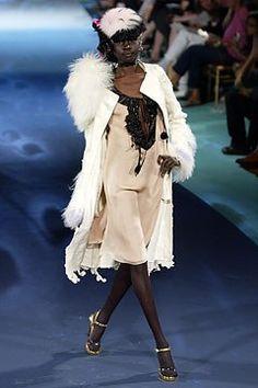 Christian Lacroix Fall 2003 Couture Fashion Show - Alek Wek, Christian Lacroix