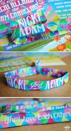 festival wedding wristbands http://www.wedfest.co/camp-kiwanee-music-festival-wedding/