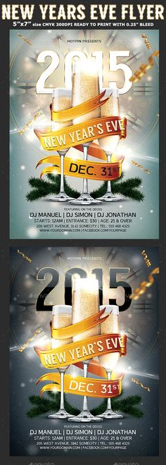 New Year Party Flyer Template  Party Flyer Templates For Clubs