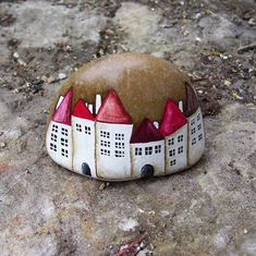 houses - painted rock