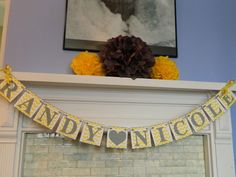 Chevron Wedding Banner Couples Name Banner by anyoccasionbanners, $31.75