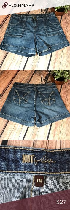 """KUT from the Kloth shorts KUT from the Kloth denim jean shorts. Great condition! 18"""" waist. 15"""" length. 4"""" inseam. Kut from the Kloth Shorts Jean Shorts"""