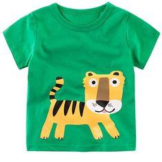 14ec4e18d Summer Kids T shirt For Baby t shirt Children Clothing Boy Cotton Cartoon  Tiger Pattern Short Sleeve Tees boys tops shirt