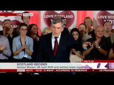 Gordon Brown's Better Together speech the day before the Scottish refere...