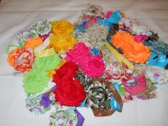 30 Assorted Shabby Flower Headbands in sz. large. https://www.facebook.com/photo.php?fbid=10152116011646917=oa.586568858053858=3