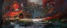 Animation, Concept Art, Models Sheets// The Art of Animation #scenery