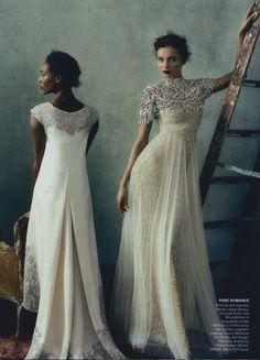 Jourdan Dunn& Miranda Kerr photographed by Norman Jean Roy for Vogue, February 2013.