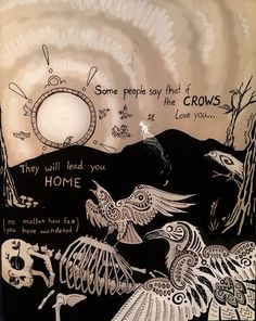 Sundews' Shiny Stuff (After this image became so popular, the quote. Wicca, Magick, Witchcraft, Pagan, Potnia Theron, Arte Dark Souls, Arte Peculiar, Crows Ravens, A Silent Voice