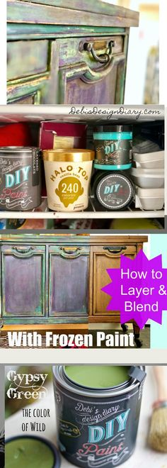 Frozen paint finish; How to layer and blend color | Debis Design Diary