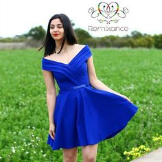 Así de femenina, glamurosa y bonita luce @ariencilla con nuestro vestido Emilia 💙💚💙💚💙💚