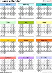 Template  Word Template For Perpetual Calendar Landscape