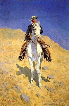 """""""Self-Portrait on a Horse"""" – art by Frederic Remington, 1890 American Art, Painting Illustration, Western Art, Painting, Oil Painting, Painting Prints, Art, American Painting, Canvas Painting"""