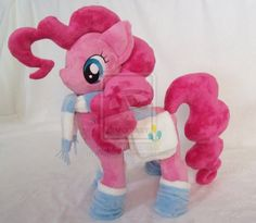 Pinkie Pie With Accessories Custom Minky Plush by ponypassions.deviantart.com