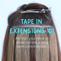 Permanent Hair Extensions, Hair Extensions Before And After, Hair Extensions For Short Hair, Tape In Hair Extensions, Luxy Hair, Hair Extensions Tutorial, Hair Extension Care, Help Hair Grow, Hair Tape