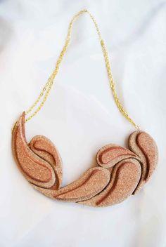 cork necklace/ Comma
