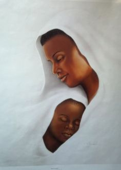 African American artwork mother and child
