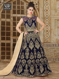 Modest Blue Velvet Work Designer Anarkali Suit Shop For salwar kameez with customizable suit Online in India at VJV Fashions Available in all Design and Robe Anarkali, Costumes Anarkali, Anarkali Suits, Anarkali Churidar, Indian Anarkali, Churidar Suits, Abaya Style, Lehenga Style, Collection Eid