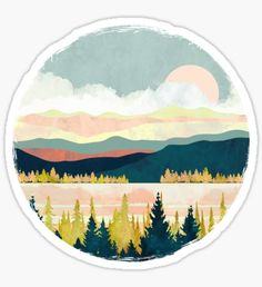 spacefrogdesign is an independent artist creating amazing designs for great products such as t-shirts, stickers, posters, and phone cases. Cute Laptop Stickers, Cool Stickers, Printable Stickers, Round Stickers, Art Nouveau Poster, Tumblr Stickers, Circle Art, Hippie Art, Aesthetic Stickers