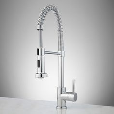 Asaro Kitchen Faucet with Pull-Down Spring Spout - Kitchen Faucets - Kitchen