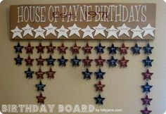 birthday board with scrapbook paper-- wonder if it will be as cute as vinyl? thoughts?