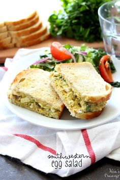 Southwestern Egg Salad- a tasty Tex-Mex twist on the classic egg salad recipe that is a crowd-pleaser for sure!